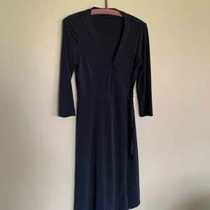 BCBG Navy wrap dress